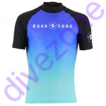 Rash Guard - Rash Guard - Rash Guard - Aqualung RASH GUARD 'Range' Kurzarm (Lady) XL Black Frozen Blue (Blau)